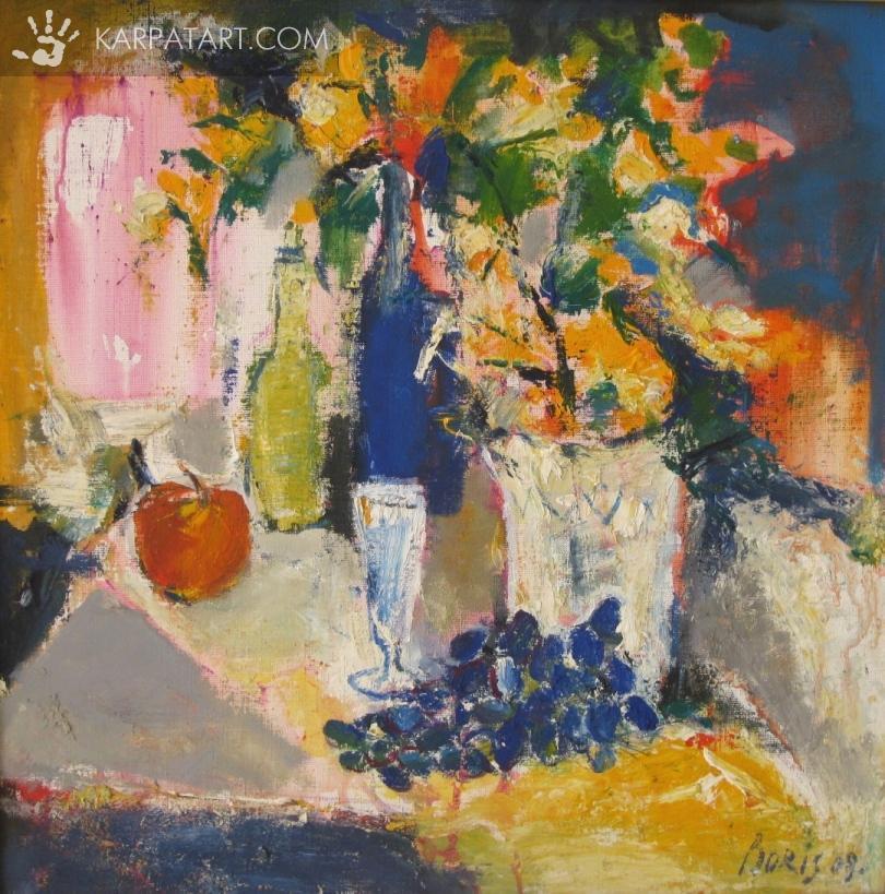 Still life with grapes. / Kuzma Borys