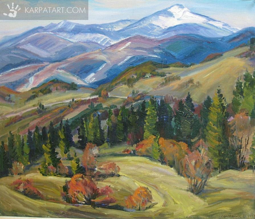 Гірський пейзаж. 1997 р. / СВАЛЯВЧИК ВАСИЛЬ ПЕТРОВИЧ