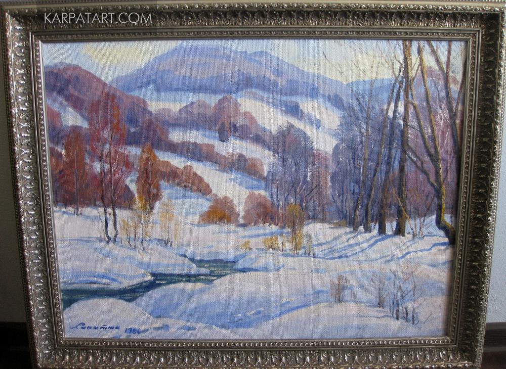 Зимовий пейзаж. 1986 рік / САПАТЮК МИХАЙЛО МИХАЙЛОВИЧ