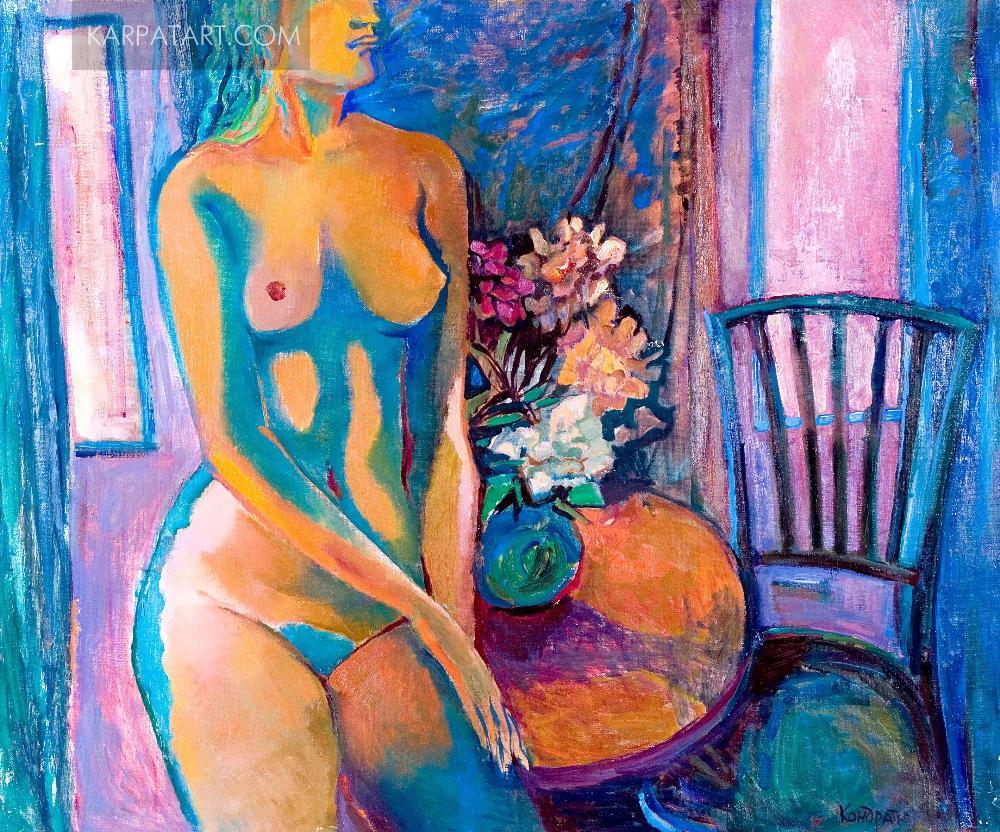 Жінка в блакитному інтерєрі. 2004 / Кондратюк Олена Євгенівна