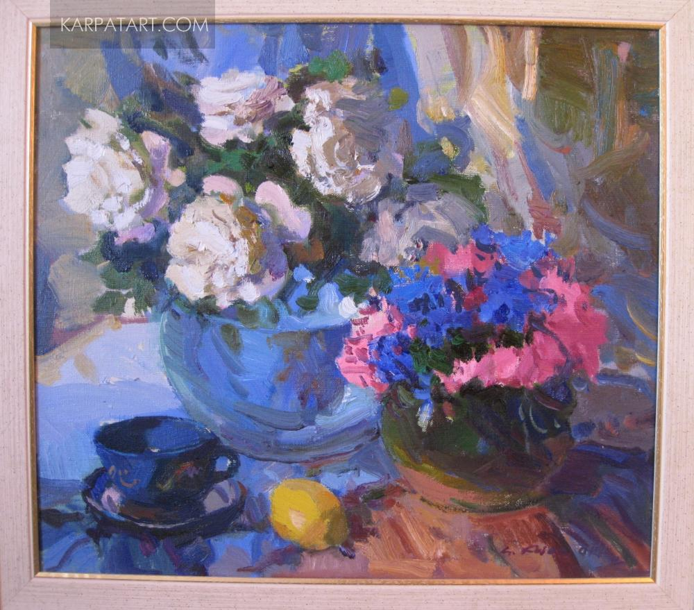 Still life with white roses. 2014 / Kovach Anton